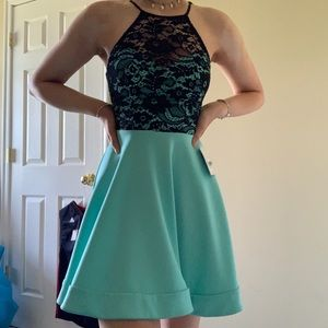 black and mint hoco dress only worn once